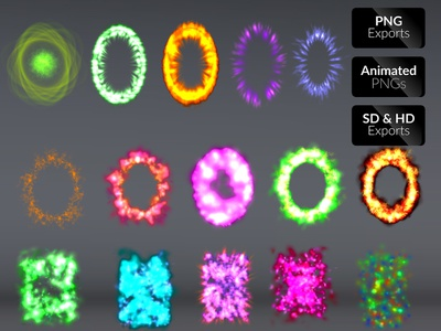 Aura FX Vol 02 magic aura games effects animated game asset blast sprite sheet effects