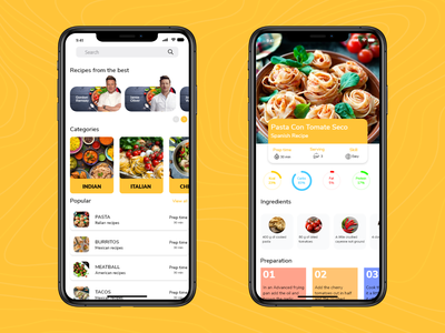 Recipe app userinterfacedesign cook food ux ui web trend design creative application adobexd