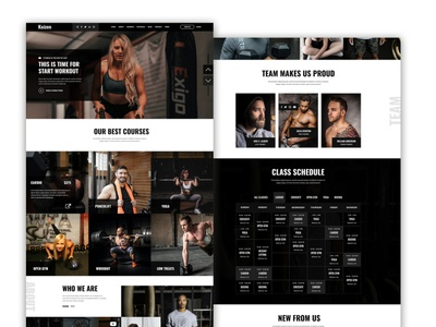 Gym or fitness template approved by Themeforest psd template workout website design ux design ui design training timetable themeforest sports template sport personal trainer martial arts gym fitness