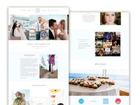 Website design for wedding photography