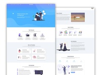 Themeforst template design for Startup business