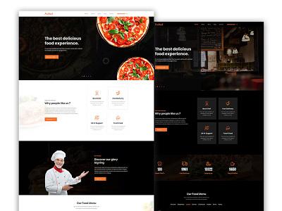Foodin - Restaurant & Cafe Responsive HTML Template restaurant responsive design food business user experience design user interface design website design ui website template food template