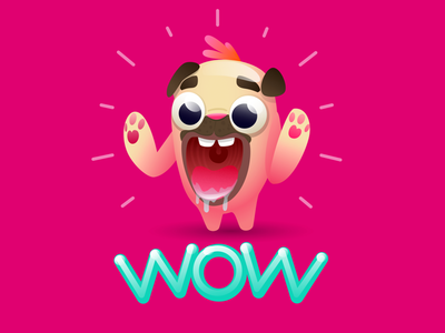 Wow 😃🤪 reaction emotions amazing advertisement woweffect wow animal funny characterdesign design character