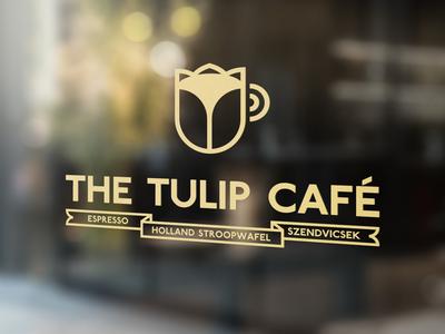 The Tulip Café 🌷☕️ Logo netherlands holland cupofcoffee cup tulip coffee espresso szendvicsek stroopwafel cafe branding logotype logo