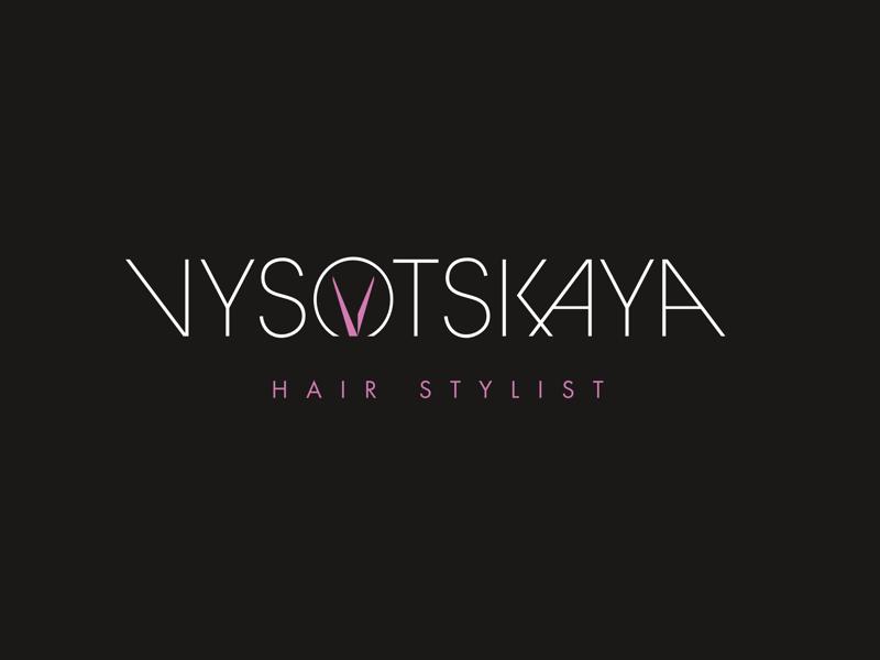 Vysotskaya Hair Stylist Logo By Max Soldatkin On Dribbble