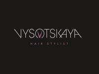 Vysotskaya Hair Stylist  💇🏼♀️ Logo