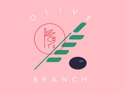 Olive Branch 🌿 olive organicoil natural cooking oil logodesign branding illustration oliveoil logotype logo olivebranch