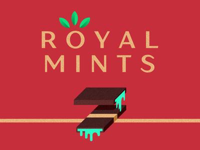 Royal 👑 Mints illustration logo sweets peppermint mint chocolate royalmints