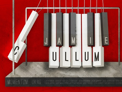Jamie Cullum Poster Submission cullum poster piano momentum newton texture music jazz illustration