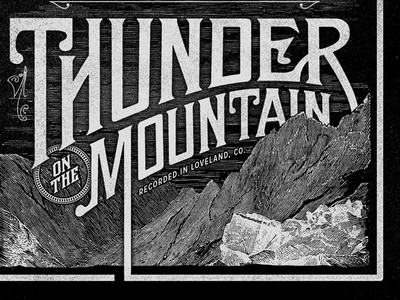 Thunder on the Mtn type vintage mountain cd album worship victorian ephemera etching colorado antique