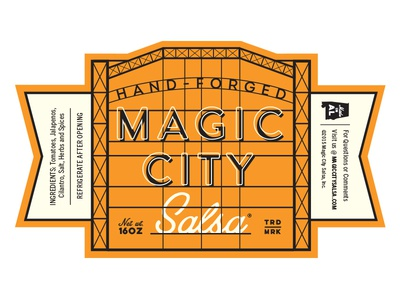 Magic City Salsa Label label birmingham packaging salsa jar product magic city alabama steel