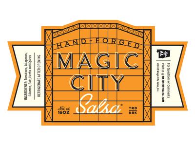 Magic City Salsa Label label birmingham packaging salsa jar product magic city alabama steel
