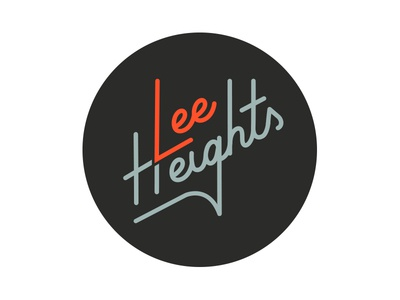 Lee Heights badge palm canyon drive church logo church script type logo font