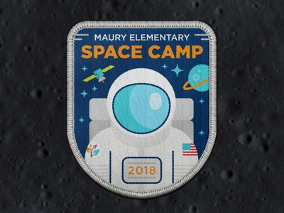 Space Camp Patch starman spaceman planet satellite astronaut patch camp space