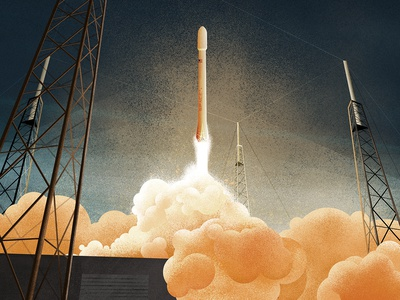 SpaceX Falcon elon musk blast boom aireon launch rocket falcon space spacex