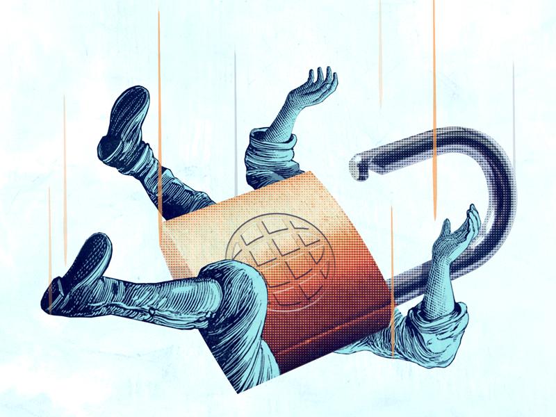 Rank & Fall collage padlock lock google ranking website security ssl falling fall seo
