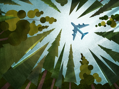 Oceanic 6? illustration texture sky forest trees airplane plane