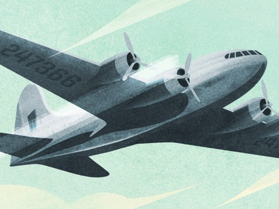 Stratoliner sky flying texture procreate illustration airplane war bomber boeing plane