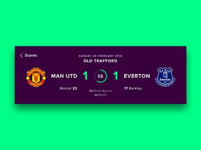Premier League UI Concepts - Match Score visualdesign uiconcept ui