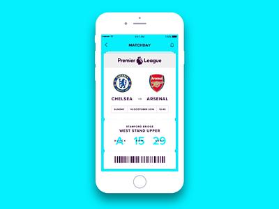 Premier League UI Concepts - Ticket visualdesign uiconcept ui