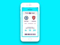 Premier League UI Concepts - Ticket
