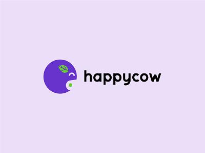 Happycow veg vegan happy cow green purple branding logo illustrator berlin vector design illustration
