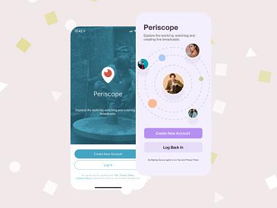 Periscope Redesign user experience ui design adobexd design ux dailyui