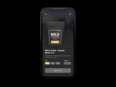 Coffee App Mockup ui ui design product design adobexd ux design dailyui