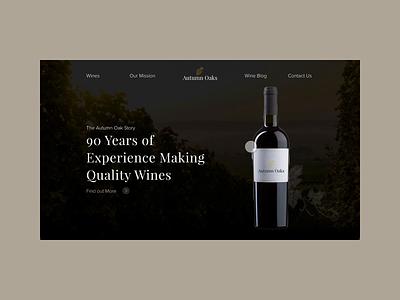 Wine Website Animation adobexd user experience ui design product design ux design dailyui