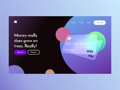 Financial Landing Page ui user experience adobexd ui design product design ux design dailyui