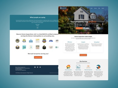 Home Inspection Webite adobexd user experience product design dailyui ux