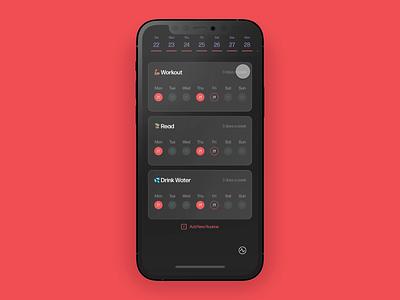 Routine App ui prototype product design adobexd dailyui ux