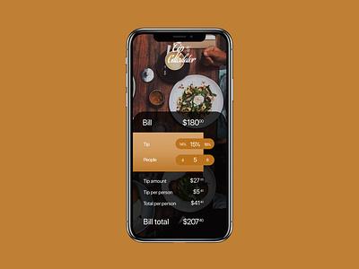 Tip Calculator ux design dailyui
