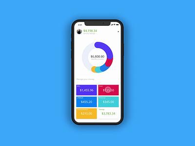 Budget App product design user interface design user experience uxdesign ui design ui design dailyui ux adobexd prototype