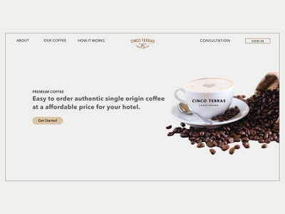 Coffee Wholesaler design product design adobexd prototype ux dailyui