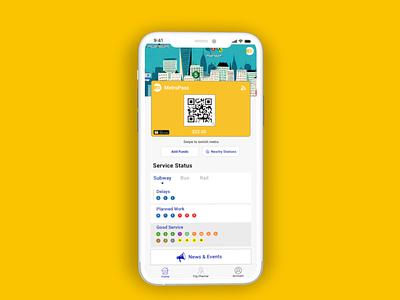 MTA Mobile Pay Concept product design prototype adobexd design ux dailyui