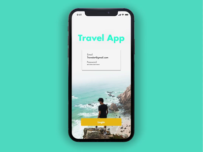 Travel App principle sketch ui user experience ui design prototype design ux dailyui