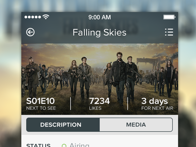 Showy is getting ready for iOS 7 showy ios7 iphone series tv shows episodes stats flat ios ui ux