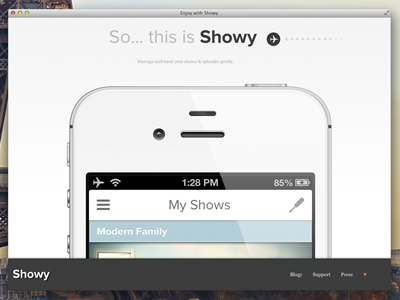 Showy hits App Store showy app web minimal iphone iphone app showy app