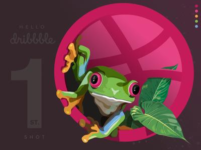 Filét vs Dribbble: 1st Shot brand designer illustrator vector illustration colours design branding