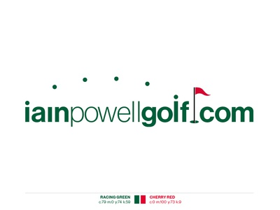 Iain Powell Golf logodesign logo branding agency branding brand designer