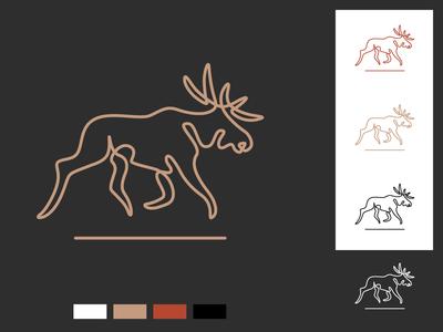 Moose / Elk vector logodesign logo illustrator design branding agency branding brand designer