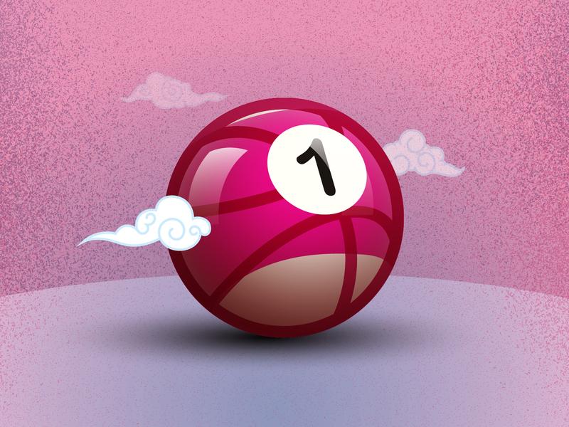 One Invite to Dribbble! vector design illustrator branding agency branding brand designer invitation invite