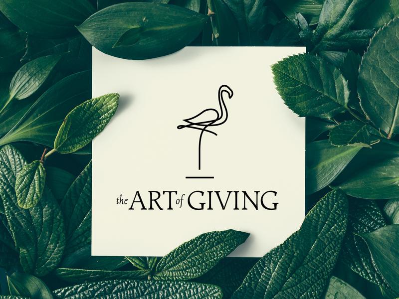 The Art Of Giving animation typography logodesign logo vector design illustrator branding agency branding brand designer