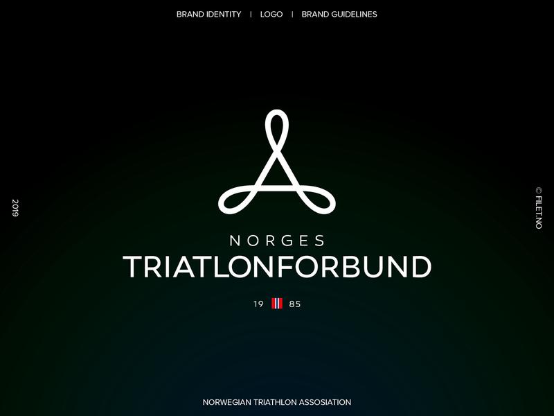 Norwegian Triathlon Assosiation vector logodesign logo design illustrator branding agency branding brand designer