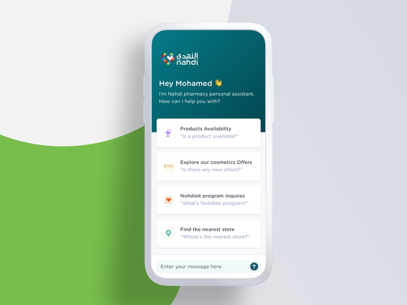 Al-Nahdi pharmacies, chatbot