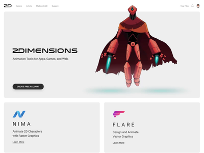 2Dimensions Website