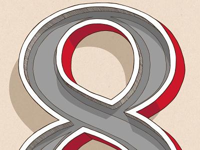 Abandoned 8 design typography illustration lettering graphic design