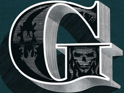 Spooky 'G' cover detail typography illustration lettering graphic design
