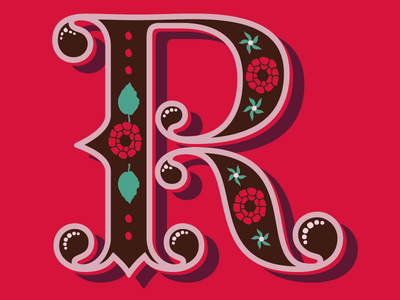'R' for… typography illustration lettering graphic design